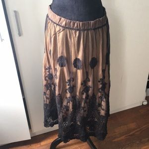 Black and Nude Skirt!